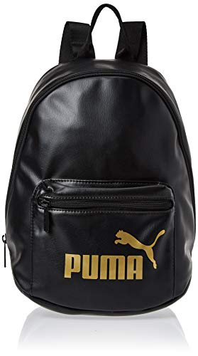 PUMA Damen WMN Core Up Archive Backpack Rucksack, Black-Gold, OSFA