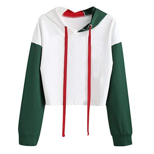 Day.LIN Damen Kapuze Lang Kapuzenpullover Langarm Winter Pullover