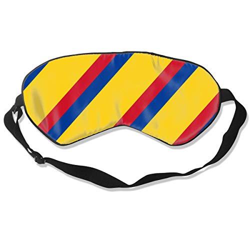 Premium Super Zacht Ademend Oogmasker met Verstelbare Band - Kerst Sneeuwvlok Blauw - Licht Blokkerende Slaap Masker voor Reizen, Nap, Yoga, Meditatie Eén maat Kleurrijke Colombiaanse vlag