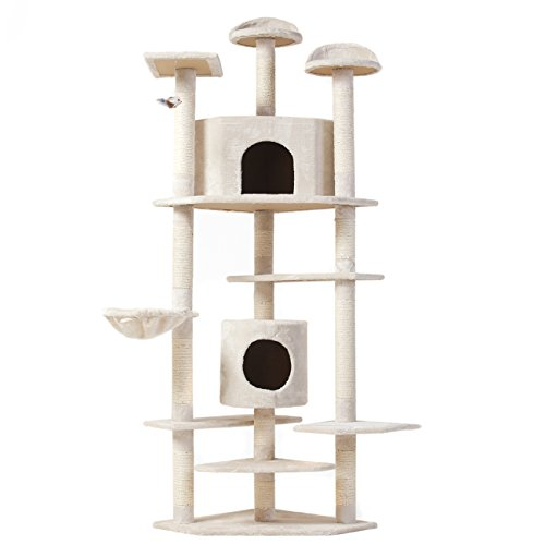 """Best Choice Products New """"The Tabby"""" Cat Nap Cat Tree Condo Pet Furniture Scratching Post Premium Quality Pet House, 80"""""""