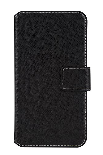 'Étui à rabat style livre Housse Premium Haute Qualité avec coque en silicone intégré pourHTC Desire 628 Housse Coque Etui Cover Book Case Noir
