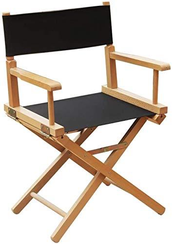 JYHQ Silla plegable de lona para director de madera, silla alta, silla de maquillaje, silla de playa, silla ghk/B, color: B (color: A)