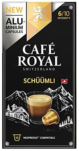 Café Royal Lungo Schüümli 50 Nespresso®* kompatible Kapseln (aus Aluminium, Intensität 6/10) (5 x 10 Kaffeekapseln)