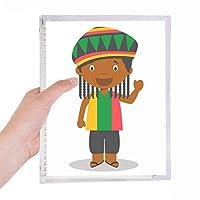 ブラック・ワイルドジャマイカ漫画 硬質プラスチックルーズリーフノートノート
