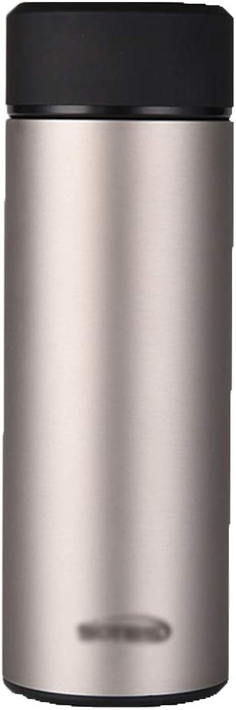 Mugs de voyage Coupe d'isolation Coupe légère de grande capacité en acier inoxydable de tasse d'or de coupe d'affaires haut de gamme de mode (Couleur   or, Taille   7  7  21cm)