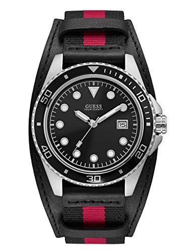 GUESS Reloj Analógico para Hombre de Cuarzo con Correa en Cuero W1051G1