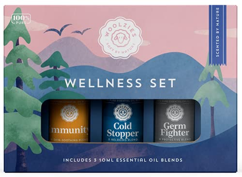 Woolzies 100% Pure Wellness Essential Oil Blend Set | Cold...