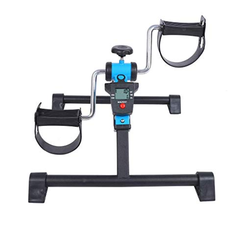 AUKLM Pedal Exerciser with Digital Display & Adjustable Resistance and Folding Function,Lounge Gym Household Indoor Fitness Lose Weight Body Sculpting,The Best Gift for Office Workers