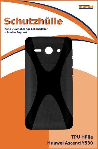 mumbi Hülle kompatibel mit Huawei Ascend Y530 Handy Case Handyhülle, schwarz - 2