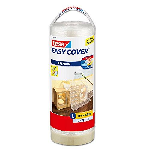 tesa 57116-00000-03 Easy Cover Premium Abdeckfolie Nachfüllrolle, 33m:1400mm