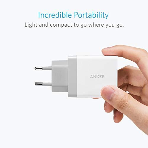 Anker 24W 2 Port USB Ladegerät mit PowerIQ Technologie, Reise Ladegerät für iPhone, iPad, Samsung Galaxy, Note, Nexus, HTC, Motorola, LG, Xiaomi und weitere (Weiß)