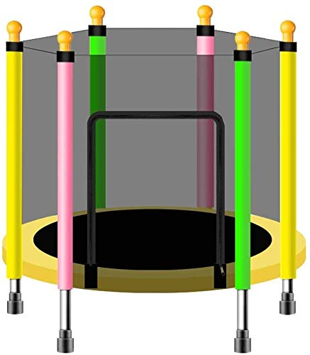YAOJIA Indoor trampoline Trampoline With Safety Net Enclosure For Kids 43''/55'' Indoor And Outdoor Maximum Load Capacity 200 Kg (Size : 140cm)