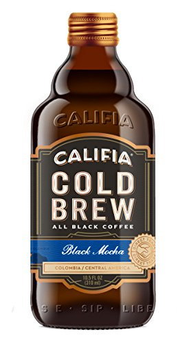 Califia Farms Black Mocha Black Label Cold Brew, 10.5 Oz (Pack of 6) | All Black Coffee | Vegan | Non-GMO