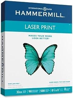 Laser Print Paper, 8-1/2 quot;x11 quot;, 32 lb., 98GE/112 ISO, White