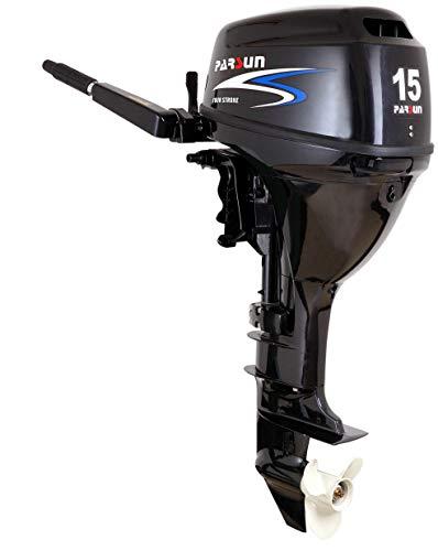 Prowake Außenborder Parsun F15 BWL: 15 PS Langschaft Benzin-Motor mit E-Start/führerscheinfrei * / 4-takt 323 CCM 2-Zylinder Außenbord-Bootsmoto