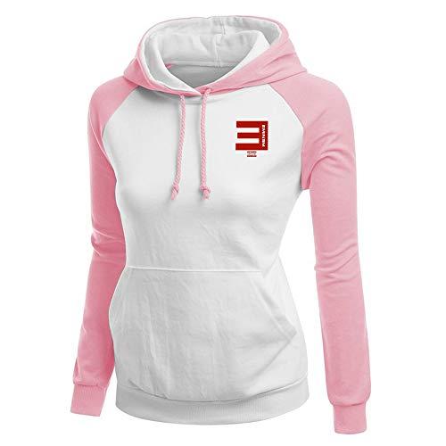 Eminem Pullover Frauen Patchwork Pullover Lässige Hoodie Tops Damen Einfaches Sweatshirt Unisex (Color : Pink07, Size : M)
