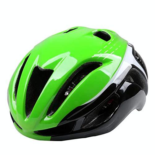 Casque Velo Adulte SFBBBOCasque de vélo ultraléger intégralement moulé Route Montagne VTT vélo Casque Casque Vert Noir