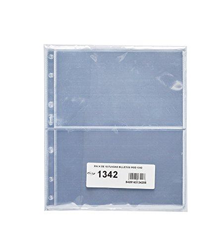 Pardo 134200 - Pack 10 fundas billetes universales, 2 departamentos