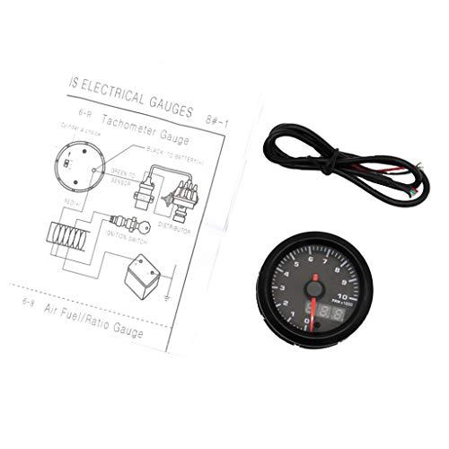 Homyl 12V Tachymètre Compteur Jauge Indicateur Dispaly 0-10000 RPM