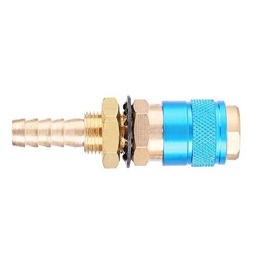 Montaje azul del conector, latón hecho soldadura enchufe soldadura antorcha extensor piezas de expansión para Mig Tig soldador antorcha