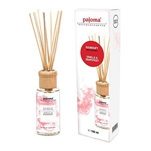 Pajoma Raumduft ''Vanilla & Grapefruit'' Modern Line inkl. 10 Bambusstäbchen, 1 x 100 ml in schicker Geschenkverpackung