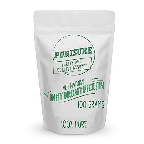 Purisure Dihydromyricetin (DHM) Powder 100g (285 Servings), After Alcohol Consumption Support, Liver Health and Detox Support