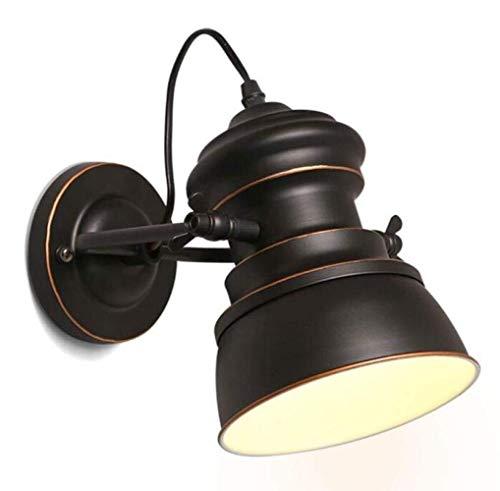 DKee Lámpara de Pared Lámpara De Pared Industrial Vintage Lámpara De Pared De Metal Ajustable Estilo Rústico Lámpara De Hierro Forjado Negro Cuerpo, Negro, A