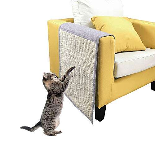 Cat Scratching Mat DreamCat Cat Scratch Pad Cat Scratcher Furniture Scratch Guards Couch Protector Washable and Durable Sofa Shield Natural Sisal Fiber Scratch Mat for Protecting Your Valuable Furnitu