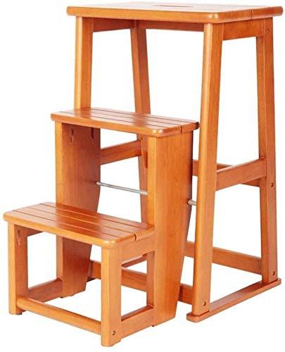 XIN Escaleras multiusos para niños Taburete de pie Taburete de bar Taburete de silla alta multifuncional Taburete de tres pisos de madera maciza Escalera plegable doble Taburete de escalera familiar: Amazon.es: Bricolaje