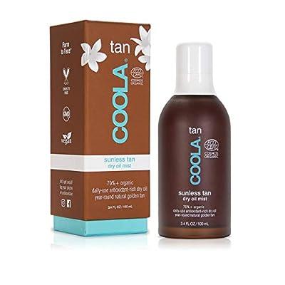 COOLA Organic Sunless Tan Body Dry Oil , Moisturizing , Antioxidant Enriched , Gradual Tan , Pina Colada