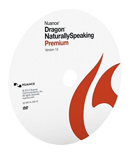 Nuance Dragon NaturallySpeaking Premium 13, Disc Only