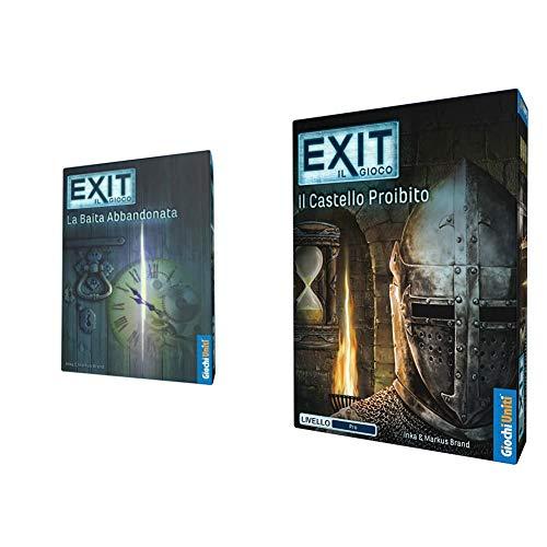 Giochi Uniti - Exit La Baita Abbandonata, Gu564 & Uniti- Exit: Il Castello Proibito, Multicolore, Gu619