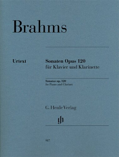 Sonates Opus 120 (Sonate No1 en fa mineur - Sonate No2 en Mib Majeur) --- Clarinette Sib et Piano