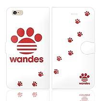 iPhone6SPlus iPhone6Plus 手帳型 ケース カバー WANDES ワンデス L ハート アニマル ワンポイント 面白い 犬 イヌ いぬ