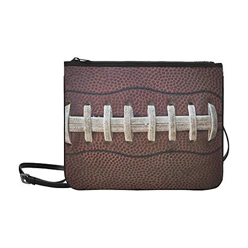N\A Clutch Bag Handtasche American Football Schnürsenkel Schließen Makro Foto verstellbar Schultergurt Clutch Bag Für Mädchen Für Frauen Mädchen Damen Clutch Bag Niedliche Große Clutch Bag
