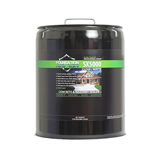 5-Gal. SX5000 Penetrating Clear Solvent-Based Silane-Siloxane Concrete & Masonry Sealer, Water Repellent, Salt Guard