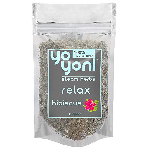 Yo Yoni Steam Herbs Relax 2 Oz for Vaginal Steaming Herbal Blend 100% Natural Detox & Cleanse (Hibiscus Flower)