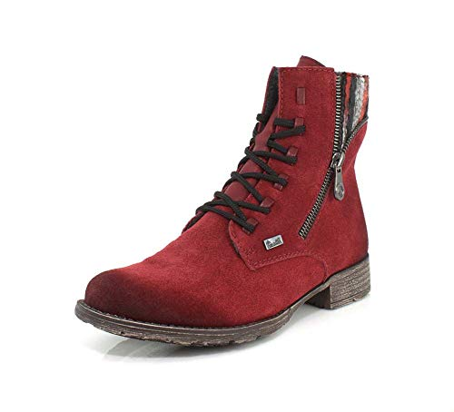 Rieker Rainbow Womens Casual Ankle Boots 38 EU Wine Suede