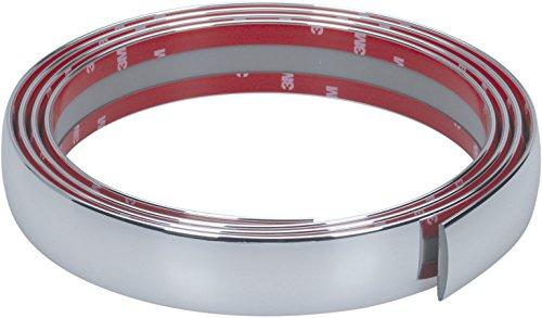 hr-imotion selbstklebende Chrom-Zierleiste - 245cm x 35mm [3M Material | Zuschneidbar | Witterungsbeständig | Hochflexibel] - 12010701