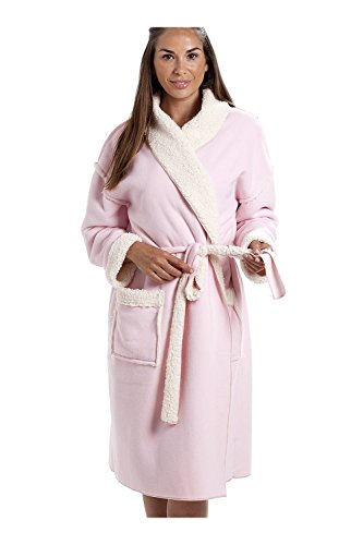 Camille Accappatoio in Pile Morbido di Vario Stile e Colore per Donna 50/52 Stay Soft Pink