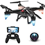 ScharkSpark Drone with 720 HD Adjustable Camera Detachable WiFi FPV Live Video RC Quadcopter with Altitude Hold, One Key Take Off/Landing, Headless Mode, Gravity Sensor