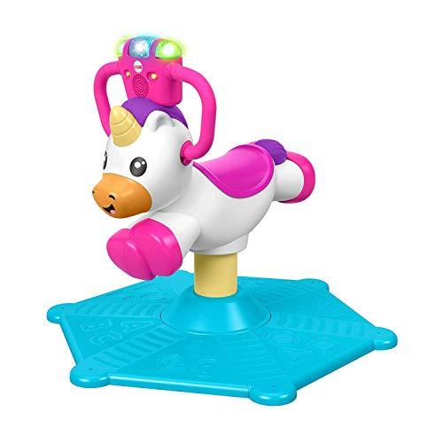 Fisher-Price GHY50 - Unicorno rimbalzo e rotazione, giocattolo musicale stazionario, multicolore