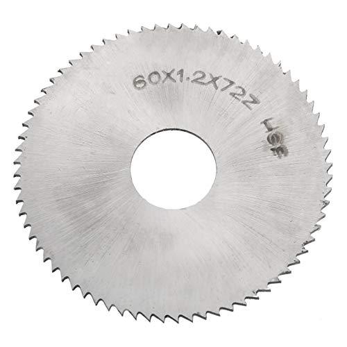 Lama per sega circolare da 72 denti, disco da taglio circolare in acciaio ad alta velocità da 2,4 pollici per il taglio di legno, legno, ferro