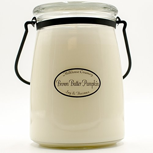 Milkhouse Candle Creamery Brown Butter Pumpkin 22 oz. Butter Jar