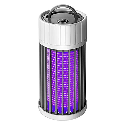 Lámpara antimosquitos, 4000 V, mosquitos, lámpara con luz UV, antimosquitos eléctricos, también mata moscas, trampa de insectos, eficaz con tubo de repuesto...