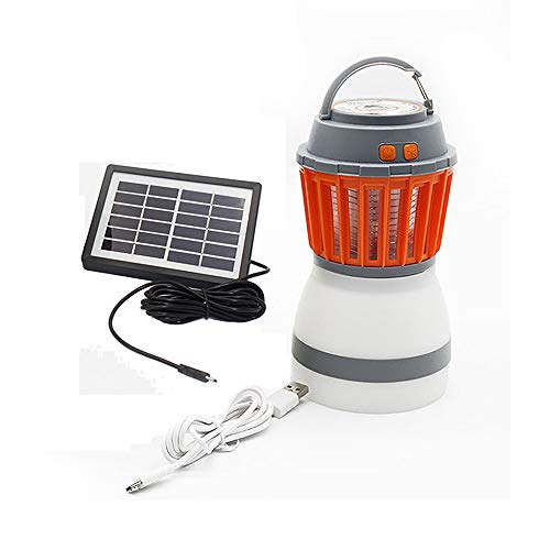 MAYSAK Camping Lantern Bug Zapper 2 in 1 Solar Camping Light UV LED Mosquito Killer Lamp Portable Flashlight USB Charging Night Light Waterproof for Outdoor Hiking Fishing