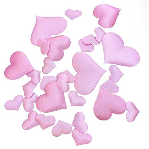 100 confeti romántico corazón casado amor corazón brillante confeti mesa fiesta esparcidores de papel desechos de boda suministros coleccionables 2.1 cm rosa