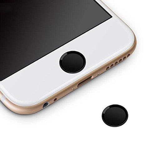 Sakula Home Button Aufkleber Touch ID Taste für iPhone 8 8 Plus 7 7 Plus 6S Plus 6S 6 Plus 6 5S SE iPad Mini iPad Air schwarz / schwarz