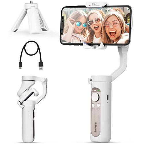 3 Axis Gimbal Stabilizer - 0.5 Lbs Lightweight Foldable Gimbal for Smartphone iPhone 12 Pro Max/12/11/XSMax w/ Auto Inception/Dolly Zoom/Time-Lapse for Vlog Youtuber Video Recording, Hohem iSteady X
