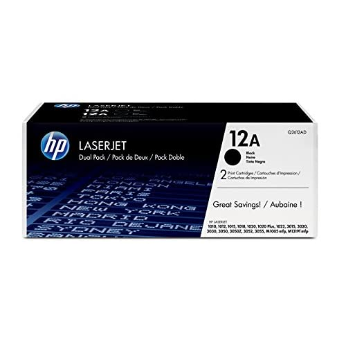 HP Q2612AD Toner Originale LaserJet HP 12A, 2 cartucce, Nero